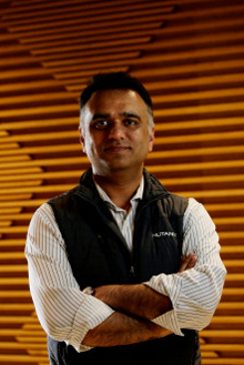 Dheeraj Pandey, 41, CEO of Nutanix, is photographed in the lobby of the Nutanix office in San Jose, Calif., on Wednesday, March 22, 2017. (Josie Lepé/Bay Area News Group)